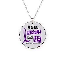 I Wear Purple 37 Epilepsy Necklace