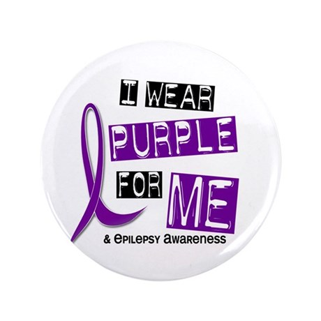 "I Wear Purple 37 Epilepsy 3.5"" Button"