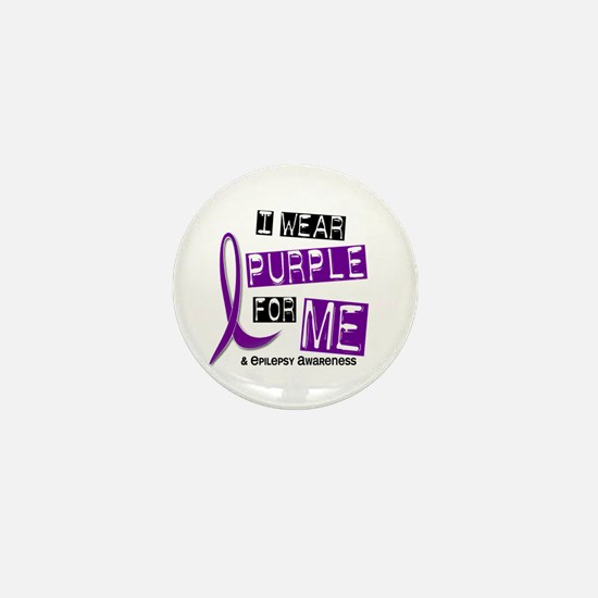 I Wear Purple 37 Epilepsy Mini Button (10 pack)