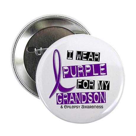 """I Wear Purple 37 Epilepsy 2.25"""" Button"""