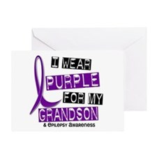 I Wear Purple 37 Epilepsy Greeting Card