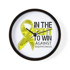 In The Fight Endometriosis Wall Clock