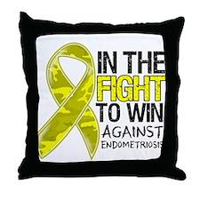 In The Fight Endometriosis Throw Pillow