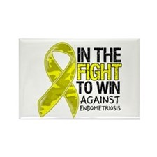 In The Fight Endometriosis Rectangle Magnet