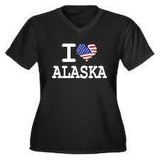 i love alaska Women's Plus Size V-Neck Dark T-Shir