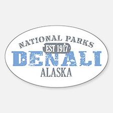 Denali National Park Alaska Sticker (Oval)