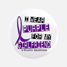 """I Wear Purple 37 Epilepsy 3.5"""" Button"""