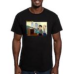 Long Service Men's Fitted T-Shirt (dark)