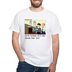 Long Service White T-Shirt