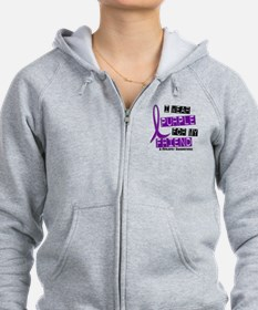 I Wear Purple 37 Epilepsy Zip Hoodie