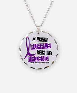 I Wear Purple 37 Epilepsy Necklace