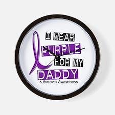 I Wear Purple 37 Epilepsy Wall Clock