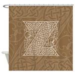 Celtic Letter Z Shower Curtain