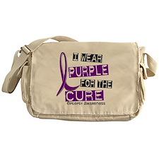 I Wear Purple 37 Epilepsy Messenger Bag