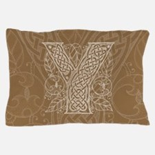 Celtic Letter Y Pillow Case