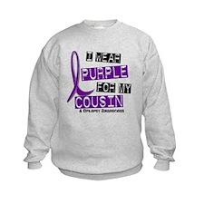 I Wear Purple 37 Epilepsy Sweatshirt