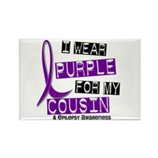 I Wear Purple 37 Epilepsy Rectangle Magnet