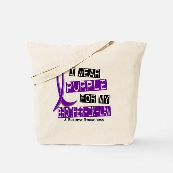 I Wear Purple 37 Epilepsy Tote Bag