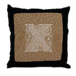 Celtic Letter X Throw Pillow
