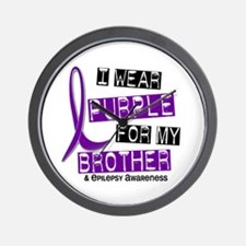I Wear Purple 37 Epilepsy Wall Clock