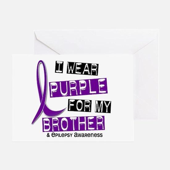 I Wear Purple 37 Epilepsy Greeting Card