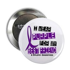 "I Wear Purple 37 Epilepsy 2.25"" Button"