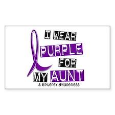 I Wear Purple 37 Epilepsy Decal