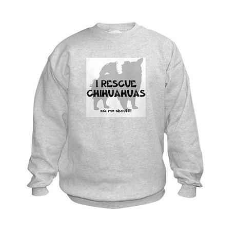 I RESCUE Chihuahuas Kids Sweatshirt