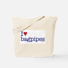 I heart bagpipes Tote Bag