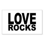 LOVE ROCKS Sticker (Rectangle 10 pk)