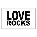 LOVE ROCKS Sticker (Rectangle)