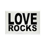 LOVE ROCKS Rectangle Magnet (10 pack)