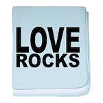 LOVE ROCKS baby blanket