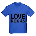 LOVE ROCKS Kids Dark T-Shirt