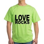LOVE ROCKS Green T-Shirt