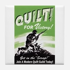 Quilt For Victory! Tile Coaster