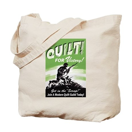 Quilt For Victory! Tote Bag