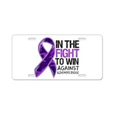 In The Fight Alzheimers Aluminum License Plate
