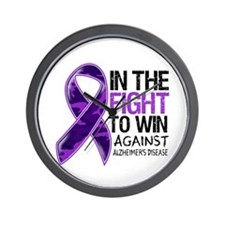 In The Fight Alzheimers Wall Clock
