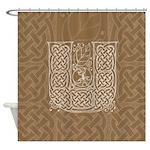 Celtic Letter U Shower Curtain