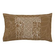 Celtic Letter T Pillow Case