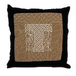 Celtic Letter T Throw Pillow