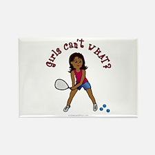 Racquetball Girl (Dark) Rectangle Magnet