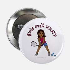 "Racquetball Girl (Dark) 2.25"" Button"
