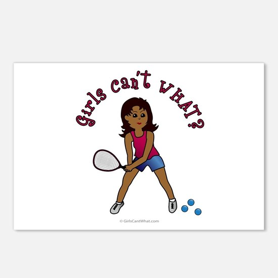 Racquetball Girl (Dark) Postcards (Package of 8)