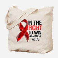 In The Fight To Win AIDS Tote Bag
