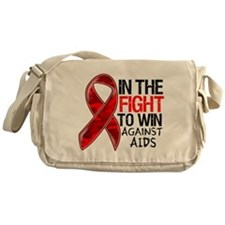 In The Fight To Win AIDS Messenger Bag
