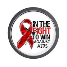 In The Fight To Win AIDS Wall Clock