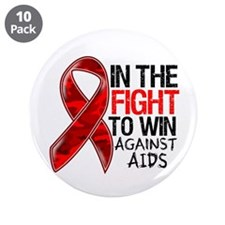 "In The Fight To Win AIDS 3.5"" Button (10 pack)"