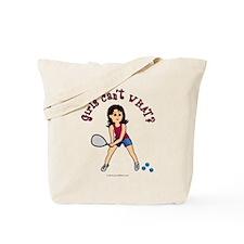 Racquetball Girl (Light) Tote Bag